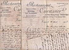Vieux papiers 1900-1930 famille Labrosse Indre et Loire + acte de prêt timbré