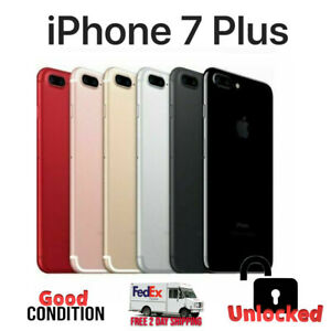 Apple iPhone 7 Plus 32GB 128GB 256GB (GSM Unlocked) ALL COLORS - Good Condition