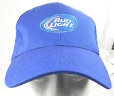 Bud Light Blue Adjustable Baseball Hat / Cap, Brew Beer Breweriana, Patch