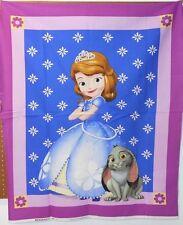 "1 Disney ""Sofia"" Wallhanging/Lap Quilt Panel Fabric"
