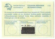 Judaica Israel Old Reply Coupon Reponse International IRC 3.5 Li.
