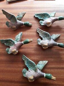 Antique Flying Ducks Wall Display - Cast Metal - Enamel   needed x5 same size