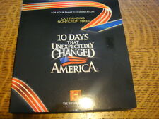 NEW! 10 Days that Unexpectedly Changed America EMMY DVD HISTORY CH +Pressbook
