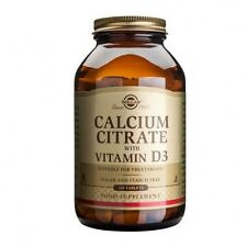 Solgar Calcium Citrate with Vitamin D3 Tablets 240