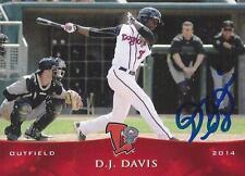 D.J. Davis 2014 Lansing Lugnuts Signed Card