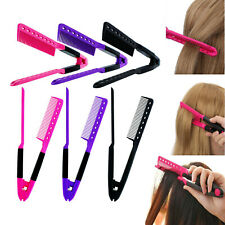 V TYPE Straightening Hair Comb Brush Flat Dryer Styling Tool Hairdressing DIY