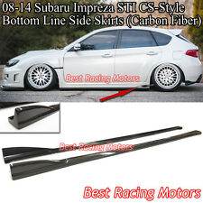 Bottom Line CS Style Side Skirts (Carbon) Fits 08-14 Impreza WRX STi