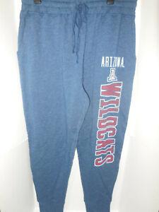 New Mens Arizona Wildcats Blue Lounge Logo Pants NCAA Size Large Soft Feel