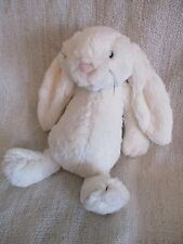 JELLYCAT medium cream ivory bashful bunny beanie bean plush soft toy VGC