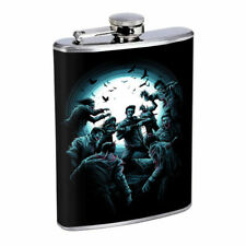 Zombie Moon Attack Em1 Flask 8oz Stainless Steel Hip Drinking Whiskey