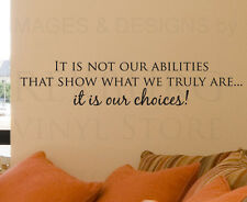 Wall Quote Decal Vinyl Sticker Lettering Adhesive Decoration Our Choices IN42