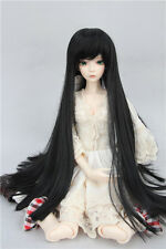 "BJD Doll Hair Wig 6-7"" 1/6 SD DZ DOD LUTS Black Long Straight Wig"