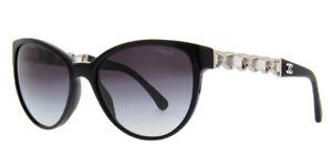 CHANEL sunglasses - CLAUDIA SCHIFFER - 5215Q c1074/S6 - Black / Silver - Womens