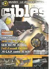 CIBLES N°416 S&W 351L.357 MAG / FUSIL D'ASSAULT FN 2000 / 45 G.A.P CONTRE 45 ACP