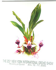 25th New York International Orchid Show 2005 Poster by Angela Mirro