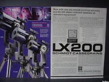 1995 Meade LX200 Schmidt-Cassegrains Telescope Vintage Print Ad 12594