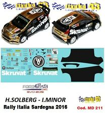 DECAL  1/43 -  FORD  FIESTA WRC Ev. 2016 - SOLBERG - Rally Sardegna 2016