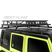Top Luggage Cargo Roof Rack System Basket Only for 07-18 Jeep Wrangler JK 4 Door