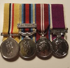 Iraq, OSM Afghanistan, Diamond Jubilee, Army LSGC Miniature Medals Mounted