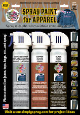 Simply Spray Fabric Tie Dye Paint COPPER SILVER BLACK Flame Pack: Shirts Cosplay