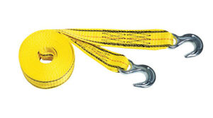 PROGRIP 141015 Light Duty Tow and Recovery Strap with Flat Webbing and Hooks: Ye