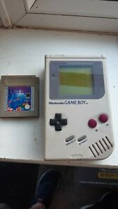 Game boy original with Tetris game