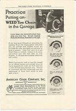 Vintage, Original, 1921 - Weed Tire Chains Advertisement