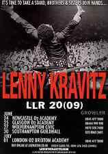 LENNY KRAVITZ - 2009 TOUR FLYER - RARE LIVE CONCERT GENUINE MUSIC PROMO