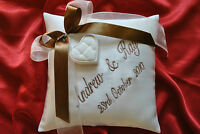 PERSONALISED wedding ring cushion/pillow 86 colours!!! Any LANGUAGE/ 20cm x 20cm