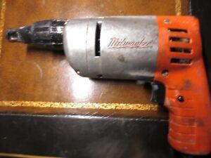 HD WORKING Milwaukee Screw Shooter  Sheet Rock/ Drywall Gun OLD STOCK USA