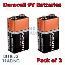 2 X Duracell Duralock 9V PP3 (MN1604) Battery Batteries Smoke Alarm