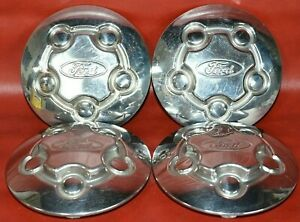 Set of 4 OEM 2003 - 2011 Ford Crown Victoria P71 Police Car Center Caps Hubcaps