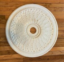 "Vintage White Round Ceiling Medallion - 29"" diameter"