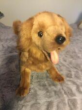 """Hansa Golden Retriever Pup 12"""" height-14"""" length art 6202 copyright 2010"""