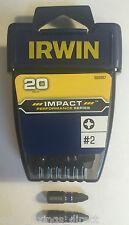 Irwin Pz2 Impact Driver Bits 25mm x 20 Pack Fits Makita Dewalt Bosch Milwaukee