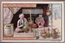 India Inde Copper Metal Artists Worker  c1905 Trade Ad Card