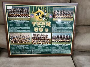"""Packers 1960s Team Championships Plaque 19""""X15"""""""