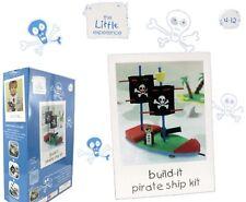 La poca experiencia Kit Manualidades De Niños Barco Pirata hacer jugar Juguete Barco de vela | 4+