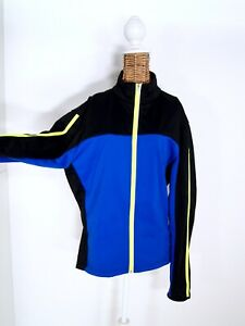 Crane Sportjacke Softshell blau schwarz gelb neon 🌸 Damen Gr. XL (42)