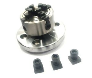 50 mm 4 jaw independent chuck M12 x 1 w/ Back Plate For Rotary Table