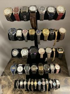 Huge Quartz Watch Lot - Casio, Swatch, Fossil,  Timex, Elgin +More-43 Watches!