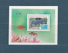 Madagascar  bloc  faune poisson   1982  num: 19  **