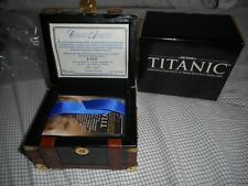 Inkworks 1998 Titanic Cards In Collectable Leather Steamer Trunk White Star Line