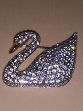 Highly Collectible Swarovski Swan Paved Crystal Brooch pin