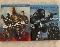 Lot Of 2 Blu-Ray G.I. Joe: Retaliation & The Rise Of Cobra Slipcovers Included