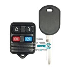 Replacement Keyless Entry Remote Fob & Ignition Transponder Chip Key For Ford