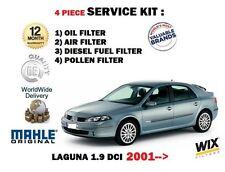 para Renault Laguna 1.9 dCi 2001-2007 Aire Aceite Combustible De Pólen 4