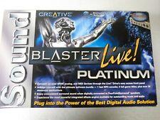 SoundBlaster Live! Platinum Sound Card and Live! Drive - In Retail Box