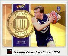 2015 AFL Champions Milestone Holofoil Card MG31 Nick Suban (Fremantle)