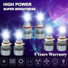 6 Bulbs 9005 9006 H11 LED Headlight Fog Lights 4500W 620000LM High Low Beam